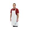 "FSE 34"" x 34"" White Poly/Cotton Apron"