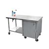 "Cook's 30"" x 48"" Can Opener Table w/Locking Cabinet"