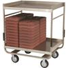 "Cook's 57"" x 29"" Stainless Steel Tray Delivery Cart"