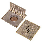 "FMP 102-1135 Hinged 7-3/8"" Square Floor Drain Grate - Drain and Sink Accessories"
