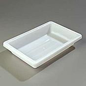 "Carlisle 12"" x 18"" x 3-1/2"" White Food Storage Box  - Carlisle"