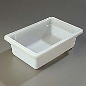 "Carlisle 12"" x 18"" x 6"" White Food Storage Box  - Carlisle"