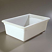 "Carlisle 18"" x 26"" x 9"" White Food Storage Box  - Carlisle"