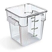 Carlisle StorPlus Clear 4 qt Square Food Storage Container - Carlisle
