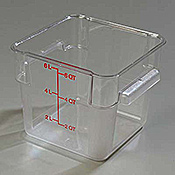 Carlisle StorPlus Clear 6 qt Square Food Storage Container - Carlisle