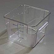 Carlisle 1072407 StorPlus Clear 12 qt Square Food Storage Container - Carlisle