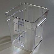 Carlisle StorPlus Clear 18 qt Square Food Storage Container - Carlisle