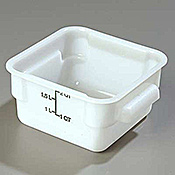 Carlisle StorPlus White 2 qt Square Food Storage Container - Carlisle