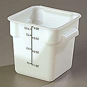 Carlisle StorPlus White 4 qt Square Food Storage Container - Carlisle