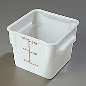 Carlisle StorPlus White 6 qt Square Food Storage Container - Carlisle