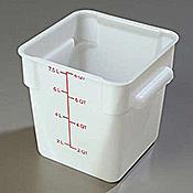 Carlisle StorPlus White 8 qt Square Food Storage Container - Carlisle