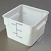 Carlisle StorPlus White 12 qt Square Food Storage Container - Carlisle