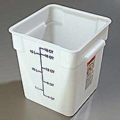 Carlisle StorPlus White 18 qt Square Food Storage Container - Carlisle