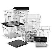 Carlisle 1073602 StorPlus White 22 qt Square Food Storage Container - Carlisle