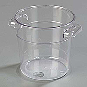 Carlisle StorPlus 1 qt Clear Round Container - Carlisle