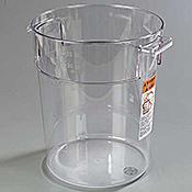 Carlisle 1076907 StorPlus 22 qt Clear Round Container - Carlisle
