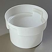 Carlisle White Polyethylene 12 qt Bain Marie - Carlisle