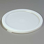 Carlisle White Polyethylene Lid for 12-18-22 qt Bains Marie - Bain Marie Pots
