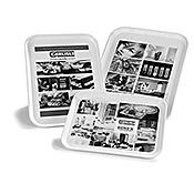 "Carlisle 1410DFG 13.75"" x 10.62"" x 0.75"" Rectangular Fiberglass Trays - Cafeteria Trays"