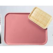Carlisle 530mm x 370mm x 19mm Pecan Fiberglass Trays - Cafeteria Trays