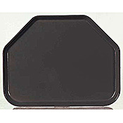 "Carlisle 18"" x 14"" x 0.85"" Trapezoid Solid Color Fiberglass Trays - Cafeteria Trays"