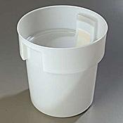 Carlisle White Polyethylene 18 qt Bain Marie - Carlisle