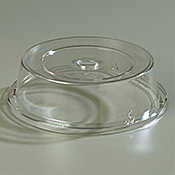 """Carlisle Polycarbonate 8 11/16"""" to 9 1/8"""" Clear Plate Covers - Carlisle"""