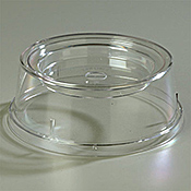 """Carlisle Polycarbonate 9"""" Clear Polycarbonate Plate and Bowl Covers - Carlisle"""