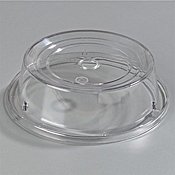 """Carlisle Polycarbonate 9 7/16"""" to 9 3/4"""" Clear Plate Covers - Carlisle"""