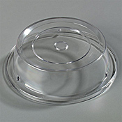 """Carlisle Polycarbonate 9 13/16"""" to 10"""" Clear Plate Covers - Carlisle"""