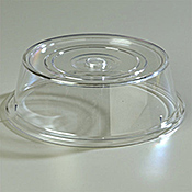 """Carlisle Polycarbonate 10 1/2"""" to 10 5/8"""" Clear Plate Covers - Carlisle"""