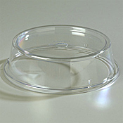 """Carlisle Polycarb 10 1/2"""" to 10 5/8"""" Clear """"pin fired"""" Plate Covers - Carlisle"""