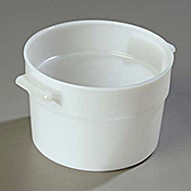 Carlisle White Polyethylene 2 qt Bain Marie - Carlisle