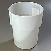 Carlisle White Polyethylene 22 qt Bain Marie - Carlisle
