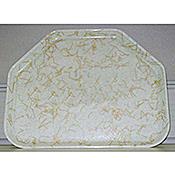 "Carlisle 22"" x 14.06"" x 0.88"" Trapezoid Decorative Fiberglass Trays - Cafeteria Trays"