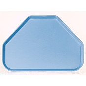 "Carlisle 22"" x 14.06"" x 0.88"" Trapezoid Solid Color Fiberglass Trays - Cafeteria Trays"