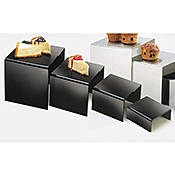 Cal-Mil 4-Piece Black Acrylic Riser Set - Display Risers