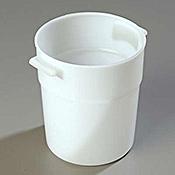 Carlisle White Polyethylene 3-1/2 qt Bain Marie - Carlisle