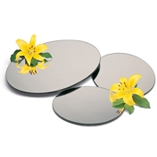 "Carlisle Round 12"" Mirrored Display Tray - Servingware"