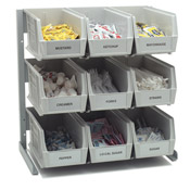 Carlisle 381109LG Aluminum-Frame Packet Rack - Condiment Servers
