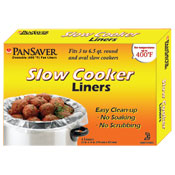 Pansaver 42645 Slow Cooker Liners (Case of 72 liners) - Disposable Cookware