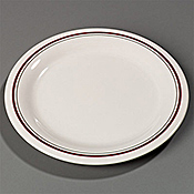 "Carlisle 6-1/2"" Pattern Pie Plates - Dinner Plates"