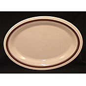 "Carlisle 12"" x 9-1/4"" Pattern Oval Platters - Carlisle"
