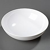 Carlisle Epicure 40 oz White Chef Salad/Serving Bowls - Carlisle