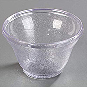 Carlisle 5-1/2 oz Low Profile Clear Tumblers - Plastic Tumblers