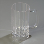 Carlisle 16 oz Clear Lexington Polycarbonate Mugs - Carlisle