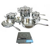 Eurodib Induction Range and Cookware Set - Countertop Induction Ranges