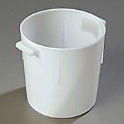 Carlisle White Polyethylene 6 qt Bain Marie - Carlisle