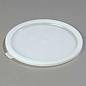 Carlisle White Polyethylene Lid for 6-8 qt Bains Marie - Bain Marie Pots