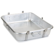Carlisle 60345 Heavy Weight Roast Pan with Handles (Base Pan) - Aluminum Roasting Pans